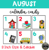 August Back to School Calendar Cards (3 INCH)
