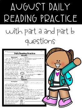 August Back to School Daily Reading FSA Style Passages