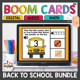 August Back to School Kindergarten Math Boom Cards