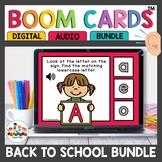 August Back to School Kindergarten ELA Boom Cards
