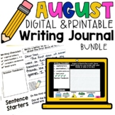 August Back to School Monthly Digital & Printable Writing