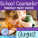 August Back to School Must Haves #COUNSELORSBACK4SCHOOL