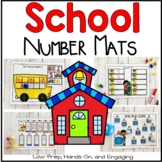 August (Back to School) Number Mats