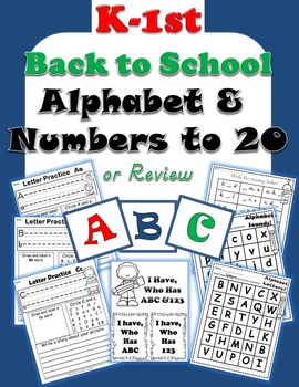Alphabet Handwriting, ABC Order, Numbers to 20 Back To School