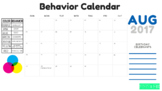 August Behavior Chart