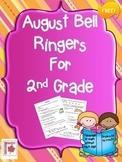 August Bell Ringers for 2nd Grade