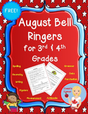August Bell Ringers for 3rd & 4th Grade