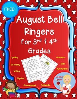 August Bell Ringers for 3rd & 4th Grade