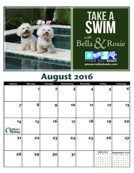 August Bella & Rosie Calendar
