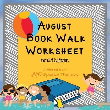 August Book Walk Worksheet