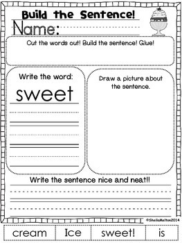 August Build the Sentence
