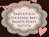 Beginning of the Year - Bulletin Board Display - Writing Activity