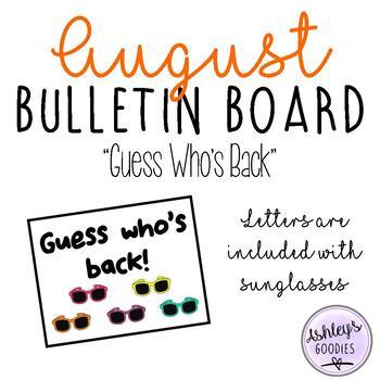 August Bulletin Board Display