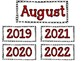 August Calendar Cards {Back to School} {Morning Math} Number Corner