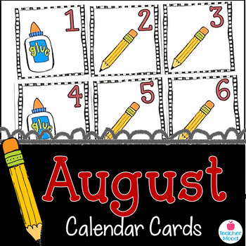 August Calendar Cards {Back to School} {Morning Math} Numb