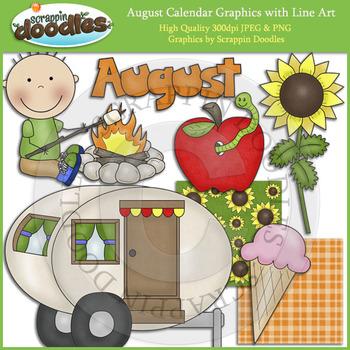 August Calendar Graphics