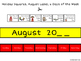 August Calendar Concepts:  Following Directions & Answerin