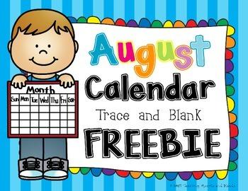 August Calendar Freebie!