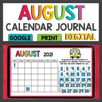 Calendar Activities / August / Math Meeting