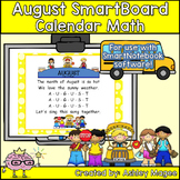 August Calendar Math FREEBIE - For use with SmartBoard ONLY