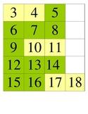 August Calendar Math Pieces