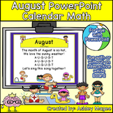 August Calendar Math - in PowerPoint - use with or without