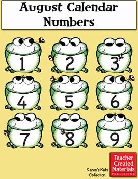 August Calendar Numbers by Karen's Kids (Digital Download)