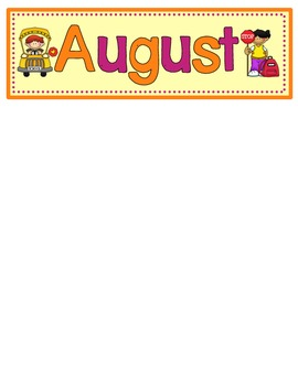 August Calendar Numbers with Patterns