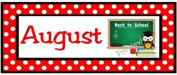 August Calendar Owls
