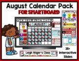 2019 August Calendar and Math Pack for SMARTboard