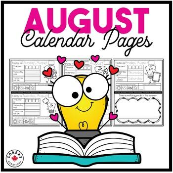 August Calendar Pages