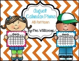 August Calendar Pieces- AB Pattern