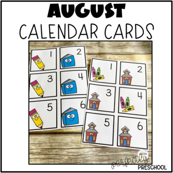 August (Back to School) Calendar Cards