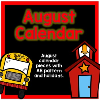 August Calendar Pieces - Black Set