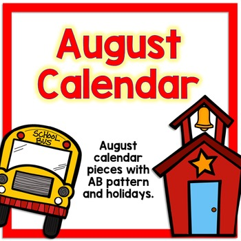 August Calendar Pieces - White Set
