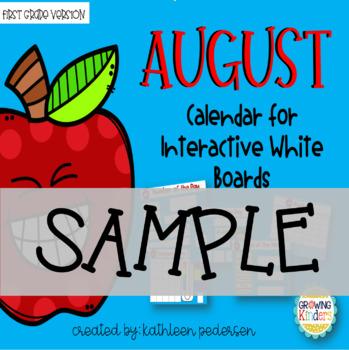 August Calendar SAMPLE SLIDES