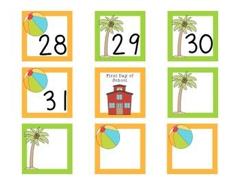 August Calendar Set