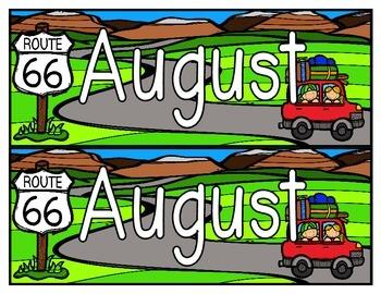 August Calendar Set Freebie