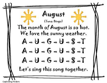 August Calendar Song