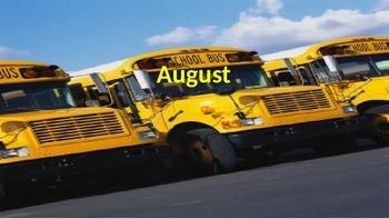 August Calendar & Daily Vocabulary