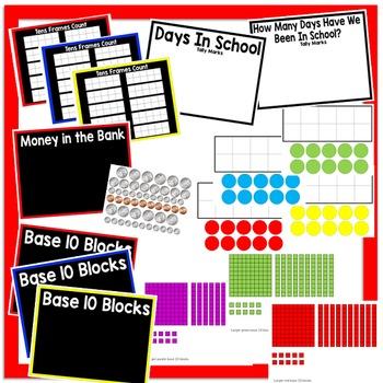August Calendar and Morning Math - Black Set