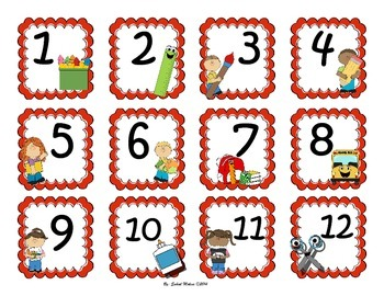 August Calendar flash cards English&Spanish