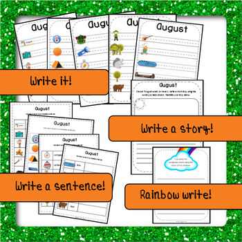 August, Camping themed Vocabulary Activities, ENGLISH version