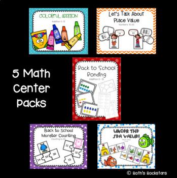 August Centers - 1st Grade - Math