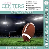 September Centers — First Grade MATH ONLY