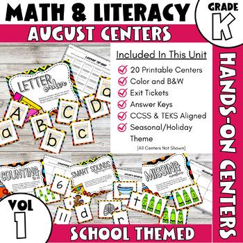 August Centers -- Kindergarten Grade Math and ELA