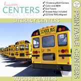 August Centers Third Grade - 3rd Grade Stations ELA ONLY