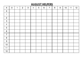 August Challenge Math Calendar aligned to Eureka and Engage NY