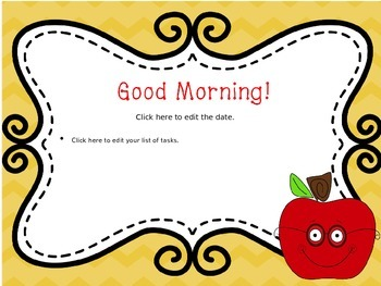 August Chevron Morning Message--EDITABLE!