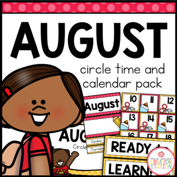 August Circle Time and Calendar Resources